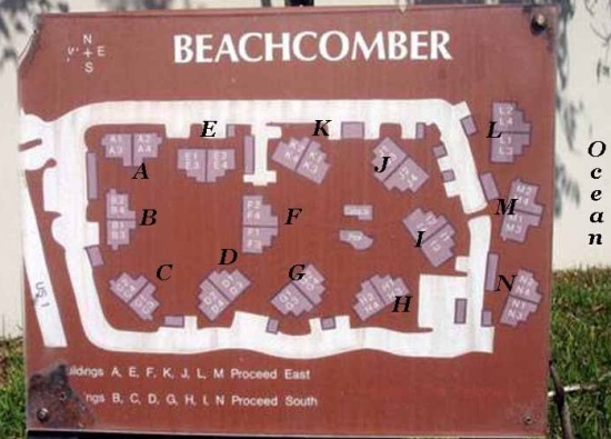 Beachcomber condos site plan - Jupiter, Florida