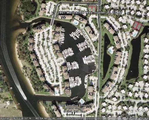 Bluffs Marina Jupiter FL - site plan