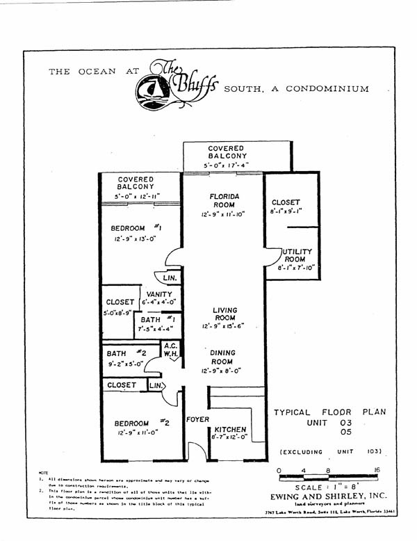 Bluffs Ocean South Floor Plan
