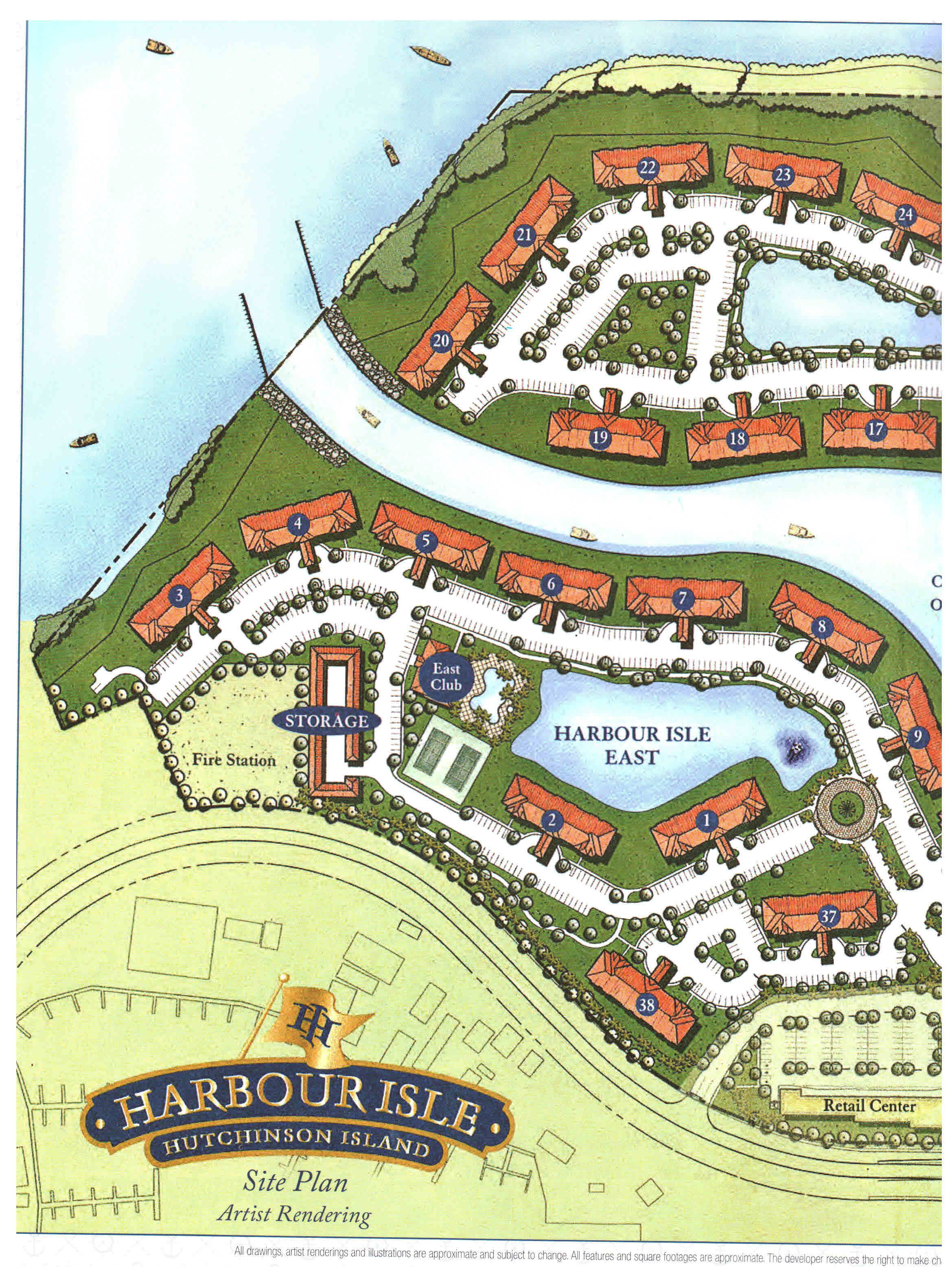 Harbour Isle - Fort Pierce To Jupiter Map Us 1
