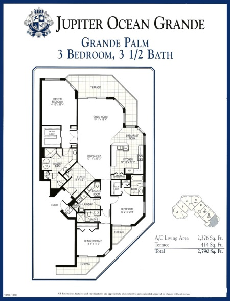 Jupiter Ocean Grande - Grande Palm floor plan
