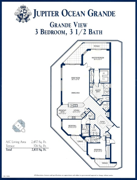 Jupiter Ocean Grande - Grande View floor plan